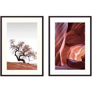Набор из 2-х постеров Дом Корлеоне Коллаж Природа №54 50х70 см 2 шт.