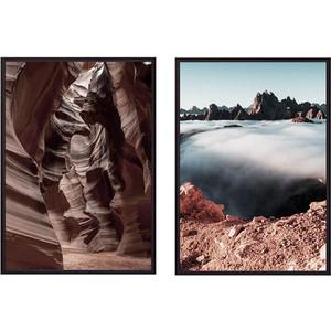 Набор из 2-х постеров Дом Корлеоне Коллаж Природа №56 50х70 см 2 шт.