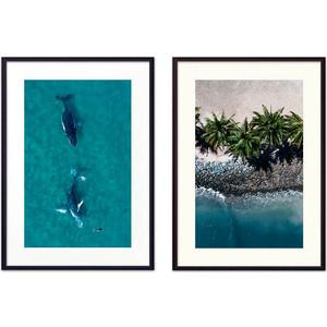Набор из 2-х постеров Дом Корлеоне Коллаж Природа №95 50х70 см 2 шт.