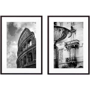 Набор из 2-х постеров Дом Корлеоне Коллаж Рим №1 50х70 см 2 шт.