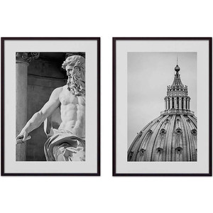 Набор из 2-х постеров Дом Корлеоне Коллаж Рим №10 30х40 см 2 шт.