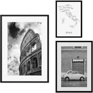 Набор из 3-х постеров Дом Корлеоне Коллаж Рим №48 21х30 см 1 шт., 30х40 40х60 1шт.