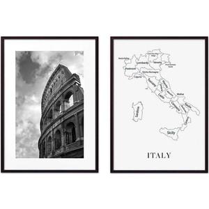Набор из 2-х постеров Дом Корлеоне Коллаж Рим №5 30х40 см 2 шт. фото