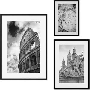 Набор из 3-х постеров Дом Корлеоне Коллаж Рим №51 30х40 см 1 шт., 40х60 50х70 1шт.