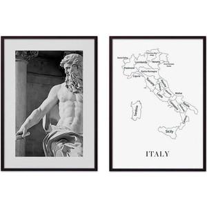 Набор из 2-х постеров Дом Корлеоне Коллаж Рим №8 50х70 см 2 шт.