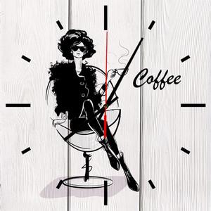 Настенные часы Дом Корлеоне Кофе 60x60 см фото