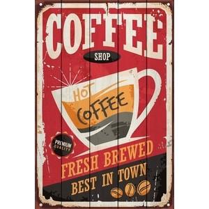 Картина на дереве Дом Корлеоне Кофейный магазин 60x90 см