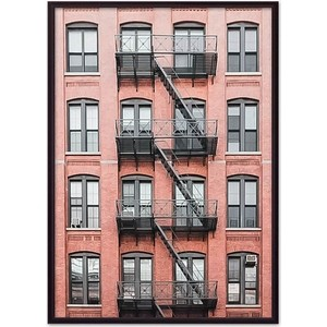 Постер в рамке Дом Корлеоне Красный дом с лестницей 30x40 см