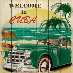 цена Картина на дереве Дом Корлеоне Куба 90x90 см