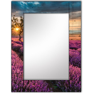 Настенное зеркало Дом Корлеоне Лавандовое поле 65x80 см