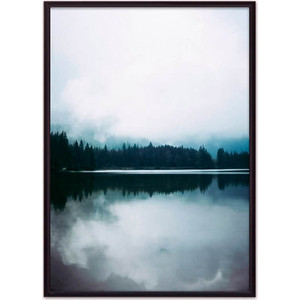 цена на Постер в рамке Дом Корлеоне Лесное озеро 21x30 см