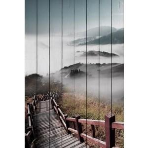 Картина на дереве Дом Корлеоне Лестница в облака 100x150 см