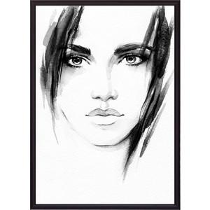 Постер в рамке Дом Корлеоне Лицо девушки Акварель 40x60 см