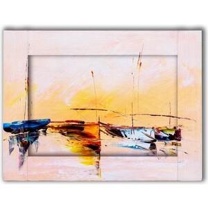 Картина с арт рамой Дом Корлеоне Лодки 80x100 см