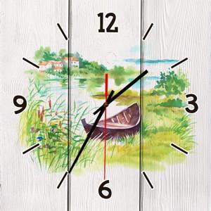 Настенные часы Дом Корлеоне Лодочка 60x60 см