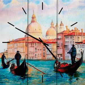 Настенные часы Дом Корлеоне Лодочники в Венеции 50x50 см фото