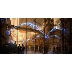 Картина на дереве Дом Корлеоне Лондон Стимпанк 70x140 см