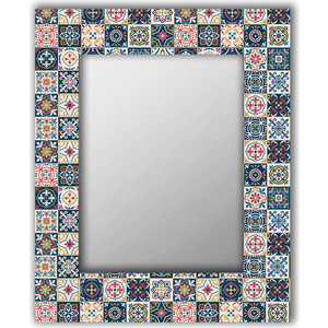 Настенное зеркало Дом Корлеоне Марокканская плитка 75x110 см