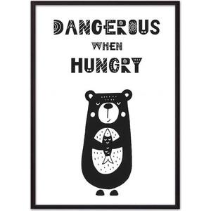 Постер в рамке Дом Корлеоне Медведь Dangerous 30x40 см