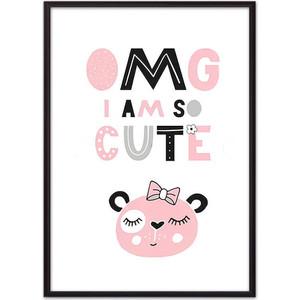 Постер в рамке Дом Корлеоне Медведь ''OMG I'm so cute'' 21x30 см Медведь