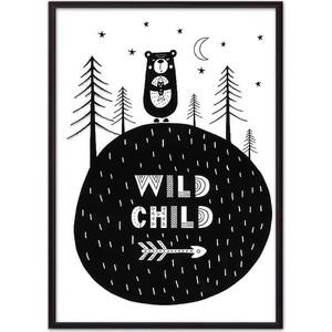 Постер в рамке Дом Корлеоне Медведь Wild child 40x60 см