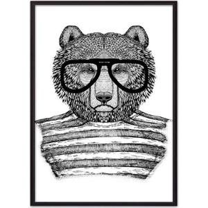 Постер в рамке Дом Корлеоне Медведь в очках 21x30 см фото