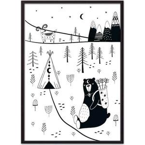 Постер в рамке Дом Корлеоне Медведь на охоте 30x40 см