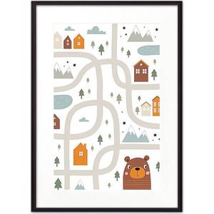Постер в рамке Дом Корлеоне Медвежья тропа 50x70 см тропа hercules 4438