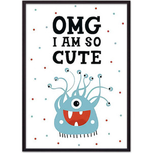 Постер в рамке Дом Корлеоне Монстр Cute 40x60 см