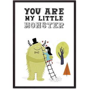 Постер в рамке Дом Корлеоне Монстр Little monster 40x60 см