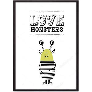 Постер в рамке Дом Корлеоне Монстр ''Love monsters'' 40x60 см Монстр
