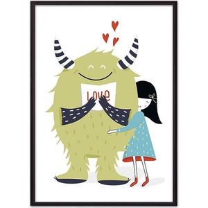 Постер в рамке Дом Корлеоне Монстр Love 50x70 см