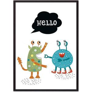 Постер в рамке Дом Корлеоне Монстры ''Hello'' 40x60 см Монстры