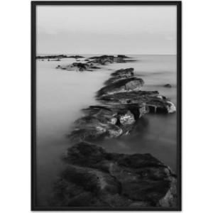 Постер в рамке Дом Корлеоне Морские камни 40x60 см фото