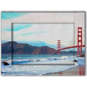 Картина с арт рамой Дом Корлеоне Мост Сан-Франциско 70x90 см