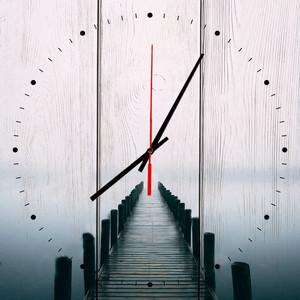 Настенные часы Дом Корлеоне Мостик в тумане 60x60 см фото