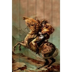 Картина на дереве Дом Корлеоне Наполеон Стимпанк 60x90 см картина на дереве дом корлеоне автомобиль стимпанк 70x140 см