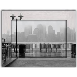 Картина с арт рамой Дом Корлеоне Нью-Йорк в тумане 60x80 см зрительная труба veber snipe super 20 60x80 gr zoom