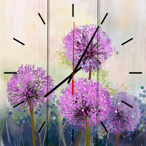 Настенные часы Дом Корлеоне Одуванчики Акварель 60x60 см