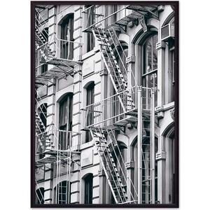 Постер в рамке Дом Корлеоне Окна Манхэттена 50x70 см фото