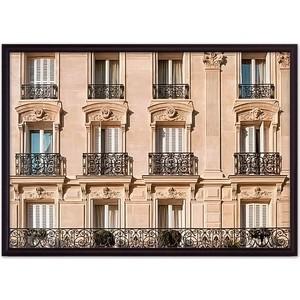 Постер в рамке Дом Корлеоне Окна Парижа 21x30 см фото