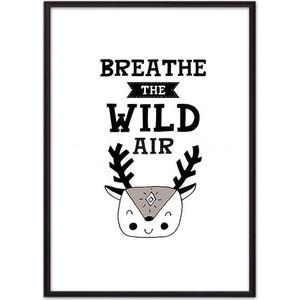 Постер в рамке Дом Корлеоне Олень ''Breath'' 50x70 см Олень