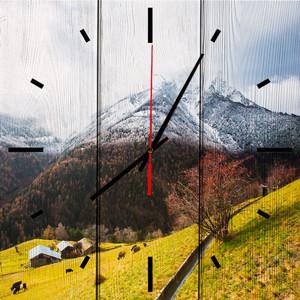Настенные часы Дом Корлеоне Осень в Альпах 30x30 см фото