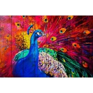 цена на Картина на дереве Дом Корлеоне Павлин 100x150 см