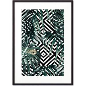 Постер в рамке Дом Корлеоне Пальмовые листья графика 30x40 см фото