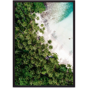 Постер в рамке Дом Корлеоне Пальмовый лес 21x30 см постер в рамке дом корлеоне зеленый лес 21x30 см