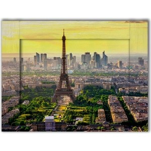 Картина с арт рамой Дом Корлеоне Панорама Париж 35x45 см плед absolute 150х200см веточки