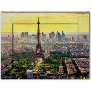 Картина с арт рамой Дом Корлеоне Панорама Париж 70x90 см