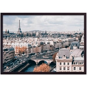 Постер в рамке Дом Корлеоне Панорама Парижа 21x30 см фото