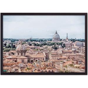 Постер в рамке Дом Корлеоне Панорама Рима 30x40 см